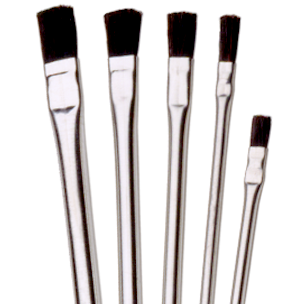 P Series All Horsehair, Tin Handle Acid Brushes