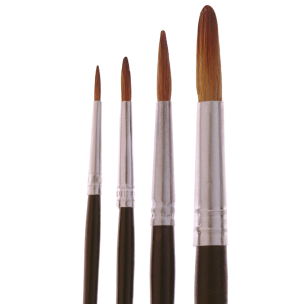 2115 Economical Camel Hair Touch Up Brushes