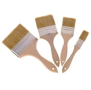 65 Better Grade, More Substantial White Bristle Paint or Chip Brushes