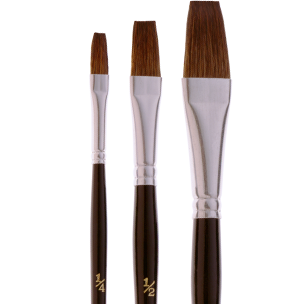 3364 Finest Flat Camel Hair Lacquering Brush