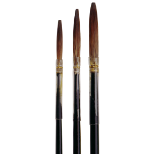 3173 Brown Lettering Quills with Handle