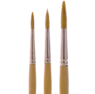 2270 Commercial Round White Bristle Marking Brush