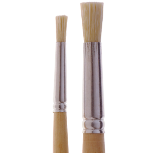 1131 Fine White Bristle Stencil Brush