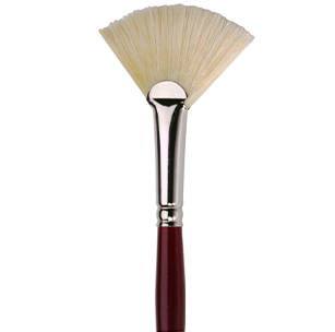 2023 White Bristle Fan Brush