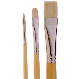 2052 Finest Quality Bright White Bristle Artist Brush