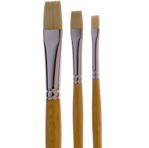 1052 Good Quality Bright White Bristle Artist Brush