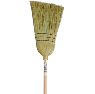 889 Corn and Rattan Broom