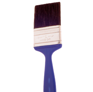 60 P 100% Black Bristle, Utility Paint Brush