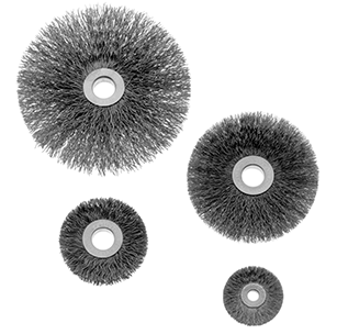 1800 Small Diameter Wire Wheels With Copper Centers, Stainless Steel or Carbon Steel Fill
