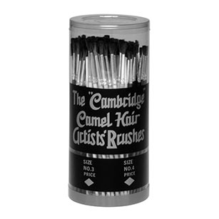 5921 Cambridge Assortment Camel Hair Artists' Brushes